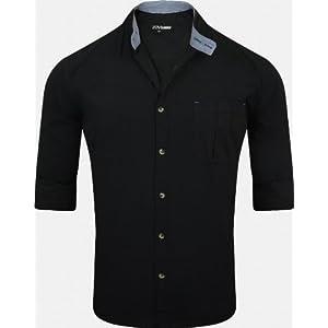 Zovi Full Sleeves Casual Shirt-Black