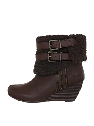 Blowfish Byner Wedges Bootie BF2408 AU12, Stivaletti donna (Marrone (Braun (dark brown austin PU BF222)))