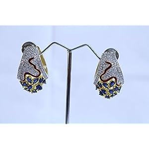 eNV Blue saffire and diamond earrings