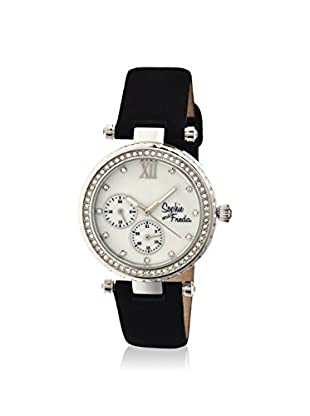 Sophie and Freda Women's SF3001 Montreal Black/White/Silver Watch