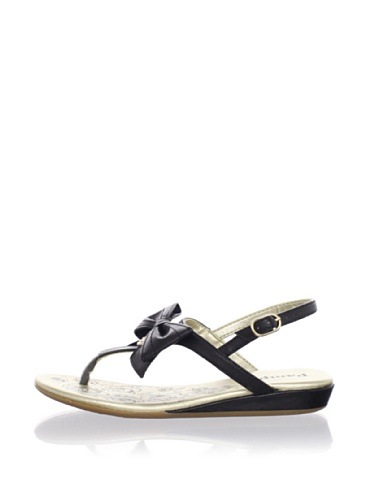Pampili Kid's Bow Charm Sandal (Black)