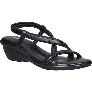 Bata Women Everyday Style Heels Sandals - Size 4   Article Code - 6616155   Colour : BLACK