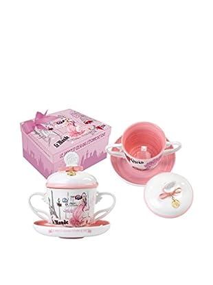 Rosso Regale Teetasse mit Unterteller France