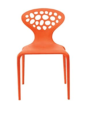 Euro Home Collection Lucy Chair, Orange