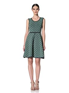 Yigal Azrouel Women's Sleeveless Knit Dress (Midnight/Apple)