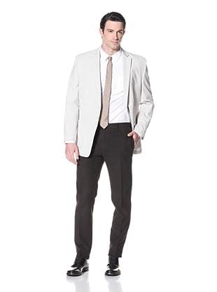 Calvin Klein Men's Myra Stripe Sportcoat (Black/Cream)