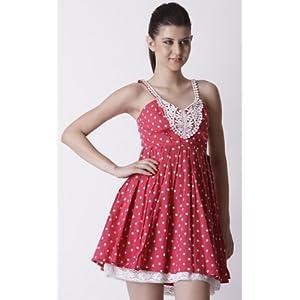 Trendy Divva Pink Women Cotton - Dresses
