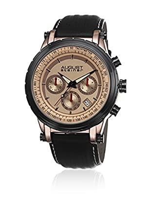 August Steiner Reloj de cuarzo Man AS8085RG Negro 44 mm44 mm x 44 mm