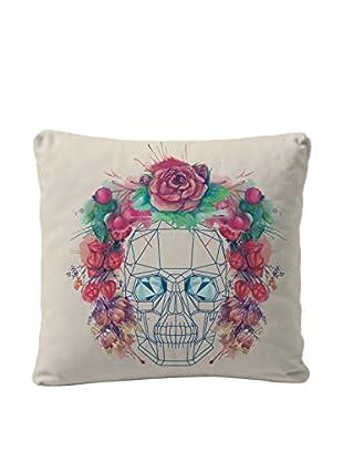 Really Nice Things Cojín Skullflowers Crudo / Rojo