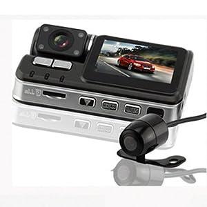 Asone 720P HD Dual Lens Dashboard Car vehicle Camera Video Recorder DVR G-sensor CAM AD