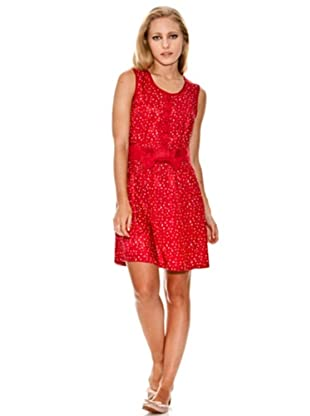 Springfield Vestido Casual Lazo (Rojo)