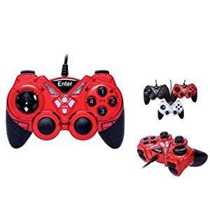 Enter USB Game pad MFw with Vibration E-GPV10 (Colors May Vary)
