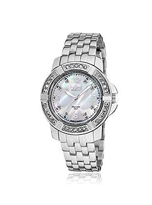 Burgi Women's BUR069SS Stainless Steel Diamond Bracelet Watch Silver Tone/White