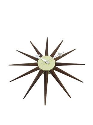 George Nelson Sunburst Clock, Walnut