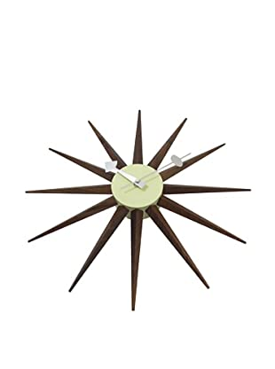 George Nelson Sunburst Clock, Walnut