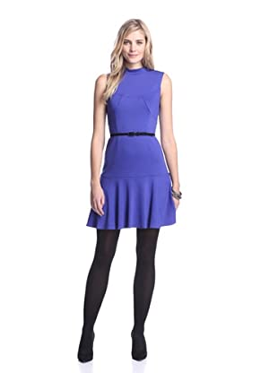 Muse Women's Flare Hem Ponte Dress (Violet Blue)