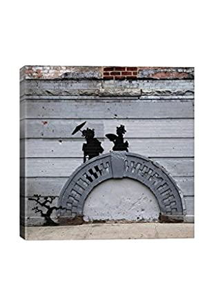 Banksy I Don't Read What I Believe In The Papers Gallery Wrapped Canvas Print