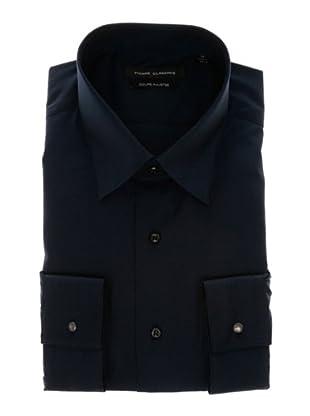 Pierre Clarence Camisa de manga larga (Azul Marino)