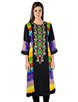 Zam Zam Women Linen A-Line Kurta (Ni00028 _Multi-Coloured _44)