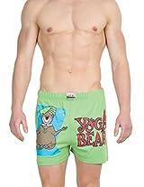 Gabi Men's Cotton Boxer Shorts (YOGABSMXL_Green_X-Large)
