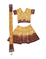 Handmade Bohemian Tie & Dye Bandhej-Bandini Lehenga Choli