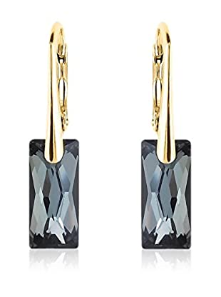 Philippa Gold Pendientes Long Rectangle metal bañado en oro 24 ct