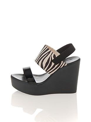 Pollini Keil-Sandalette (schwarz zebra)