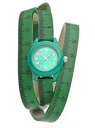 Il mezzometro Uhr mit Miyota Uhrwerk Classic Time grün 32 mm
