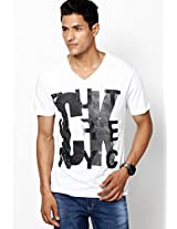 White Round Neck T-Shirt