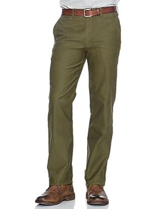 Dockers Pantalón Recto Casual Tejido Bedford (Verde Oscuro)