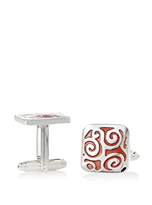 J. Fold Red Enamel Cufflinks