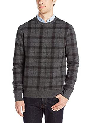 Ben Sherman Pullover Window Pane Print Crew Sweat