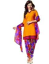 Riti Riwaz Yellow Casual Dress materal with matching dupatta PUM7012