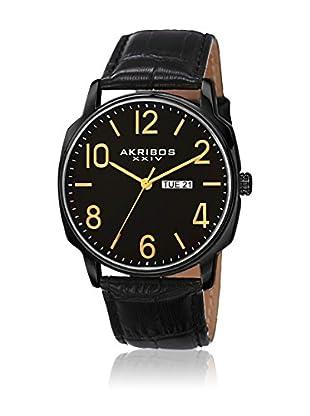 Akribos XXIV Uhr mit Japanischem Quarzuhrwerk AK801BK schwarz 42  mm
