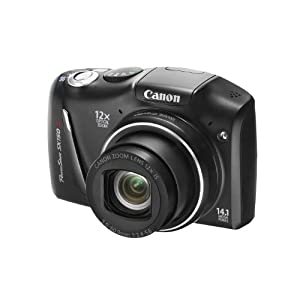 Canon PowerShot SX150 IS Point & Shoot Camera with 14.1MP, 12x Optical Zoom and 3 inch Screen (Black)
