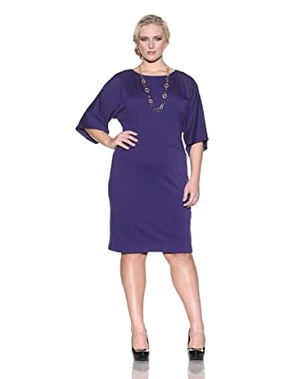 Taylor Women's Dolman Dress (Plum)