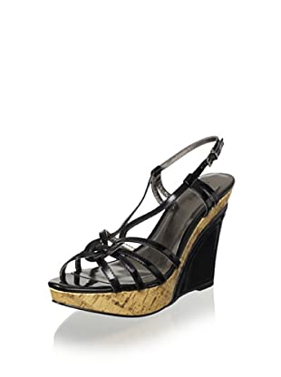 Charles by Charles David Women's Lustre Covered Wedge Sandal (Black)