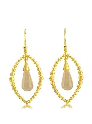 Melin Paris Pendientes Rose Quartz Earrings plata de ley 925 milésimas
