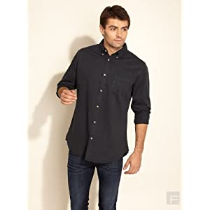 Classic Casual Shirt-Black-2L