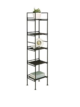 Organize It All Ebonize 5-Tier Square Shelf