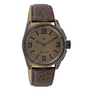 Fastrack Distressed Analog Watch in Brown Colour