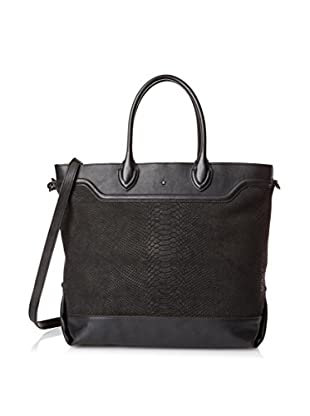 ASH Women's Smith Tote Bag, Black Embossed