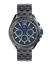 TOMMY HILFIGER MEN BLACK DIAL WATCH - TH1791033J (Black)