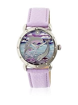 Bertha Uhr mit Japanischem Quarzuhrwerk Estella lila 40 mm