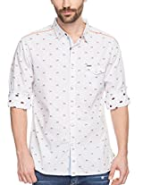 SPYKAR Men Cotton White Casual Shirt (X-Large)