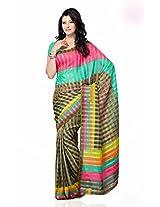 Shariyar Multi Color Art Silk Printed Saree PRG355