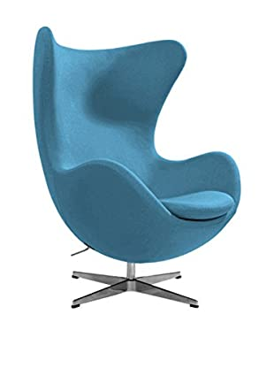 Euro Home Collection Columbia Chair, Light Blue