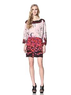 Just Cavalli Women's Printed Silk Dress (Pink)