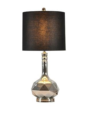 StyleCraft Glass/Metal Table Lamp, Silver