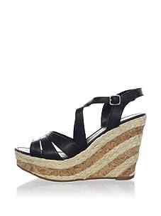 Ciao Bella Women's Dottie Wedge Sandal (Black)
